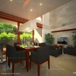 interior ruang keluarga dan makan