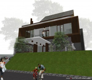rumah modern tropis di jakarta