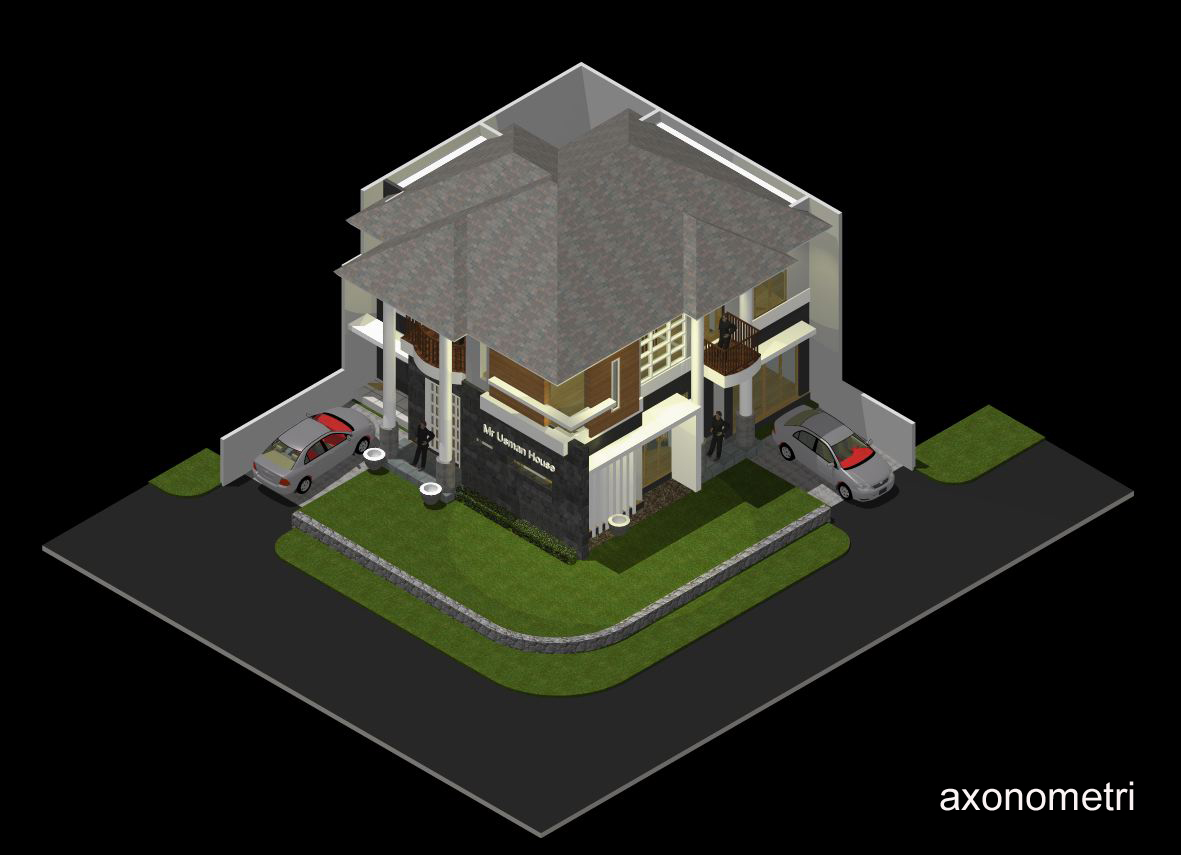 rumah pojok minimalis