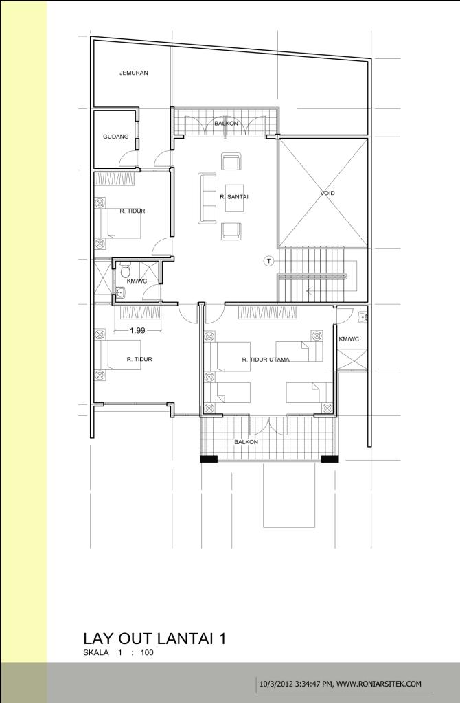 denah rumah lantai 2