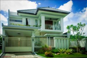 rumah tropis minimalis  di puri surya jaya