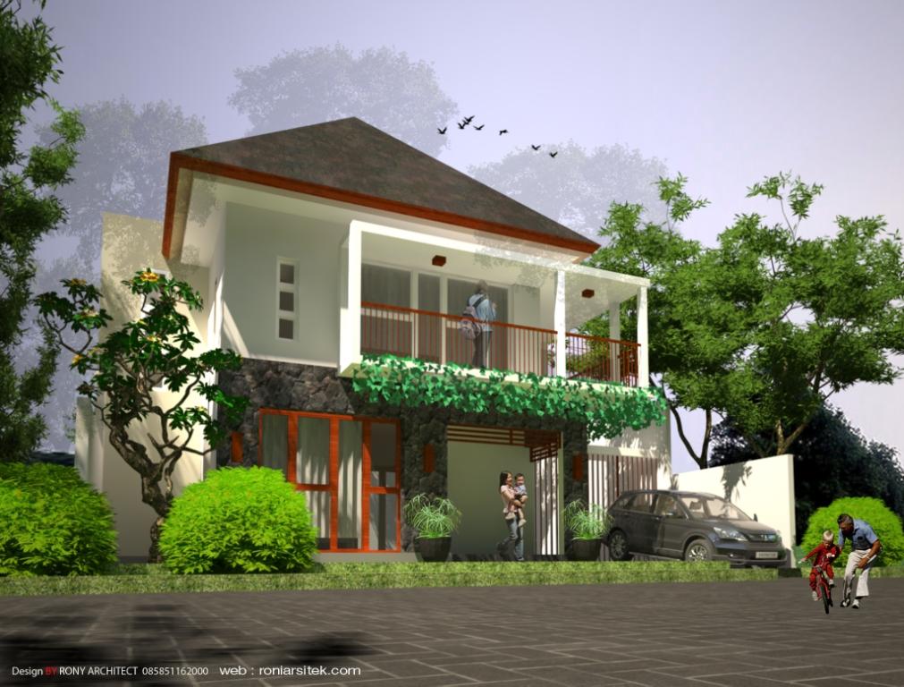 Rumah tropis ibu sandra | RoniArsitek.com