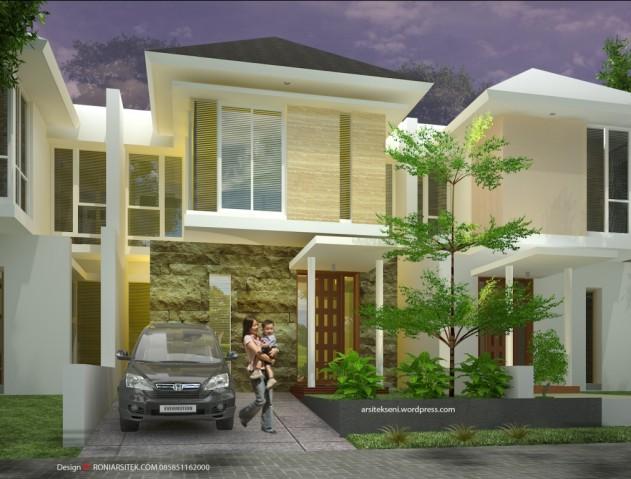 rumah tropis modern di lahan 7 meter