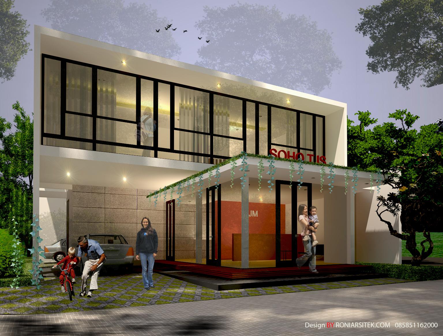 desain rumah dan kantor