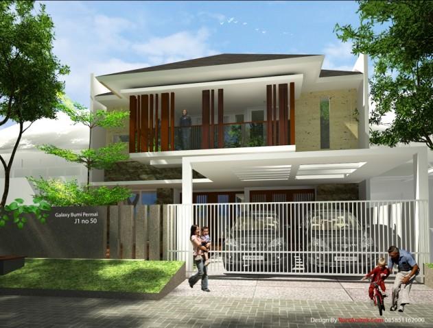 Rumah tropis modern di lahan 9 meter