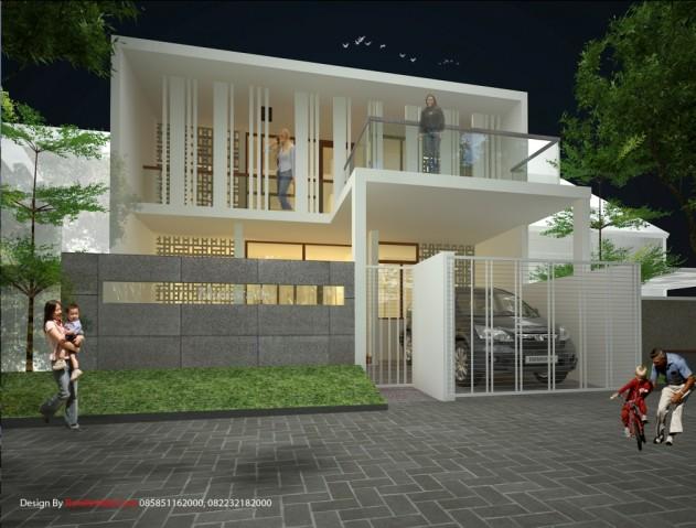 rumah hemat energi tema modern