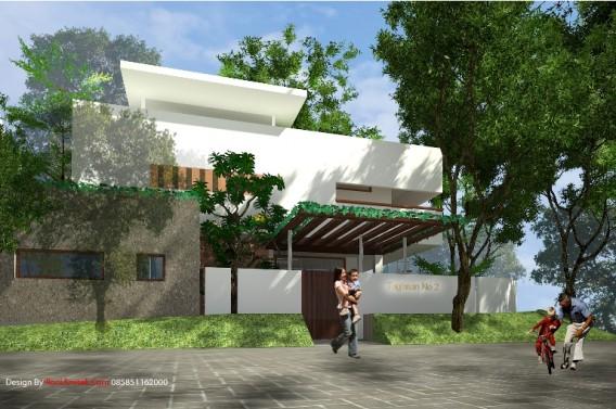 Desain Rumah pojok minimalis