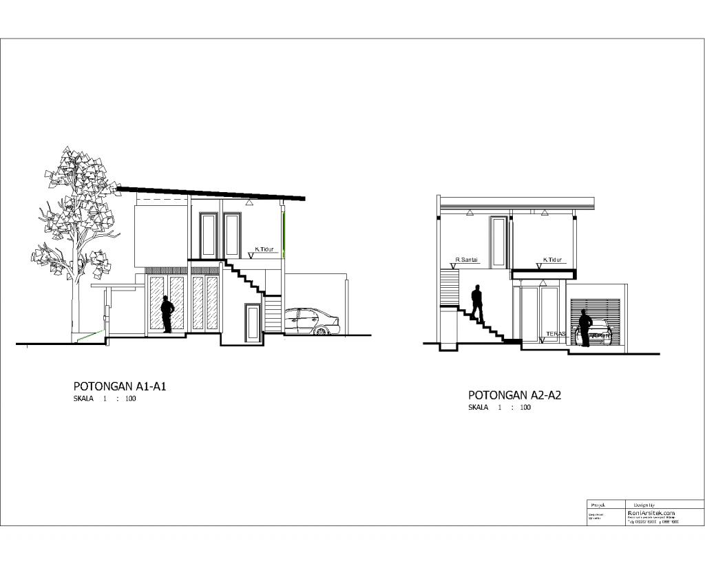 potongan rumah minimalis