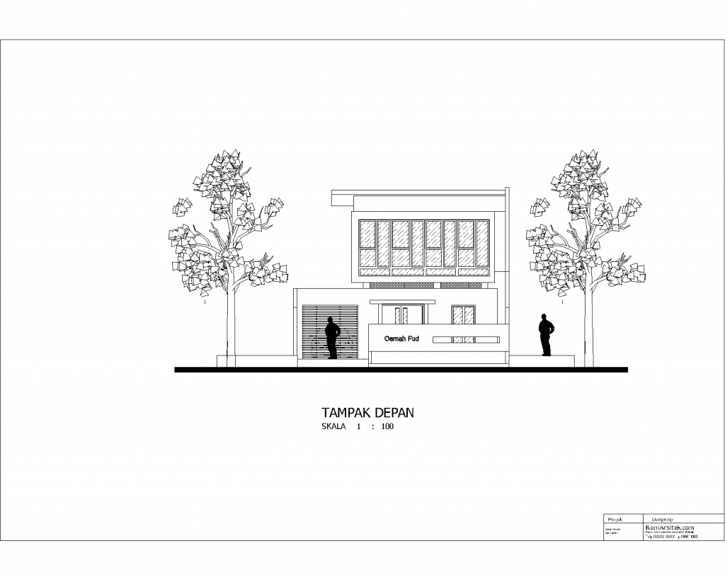 tampak depan rumah modern minimalis unik