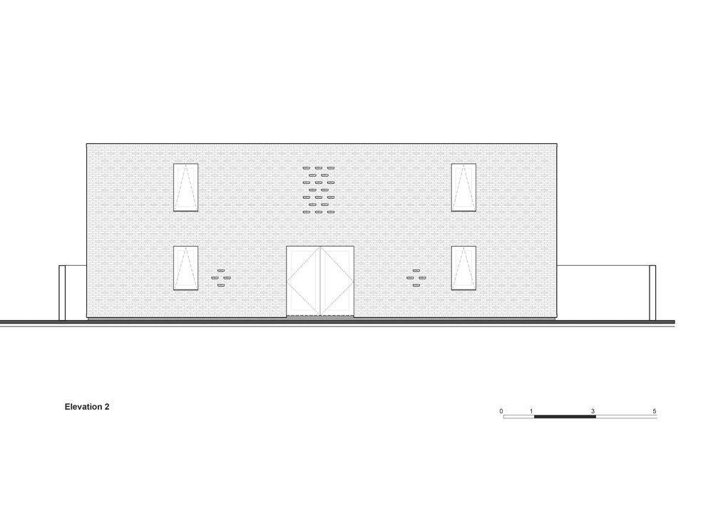desain tampak samping rumah bata