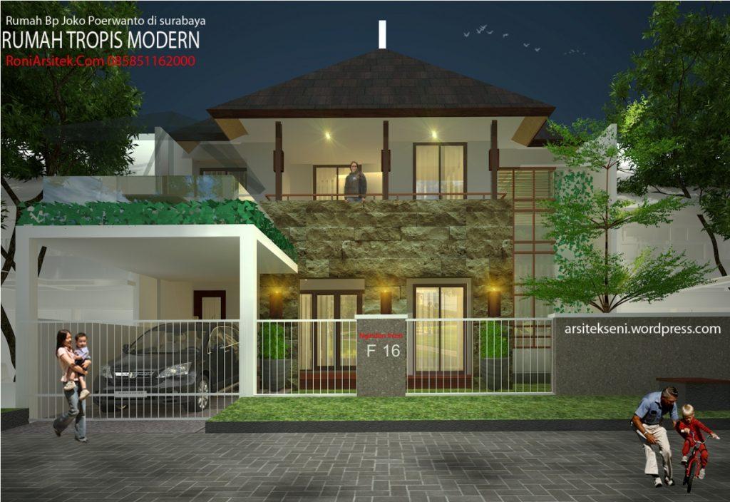 Rumah modern tropis 2 lantai