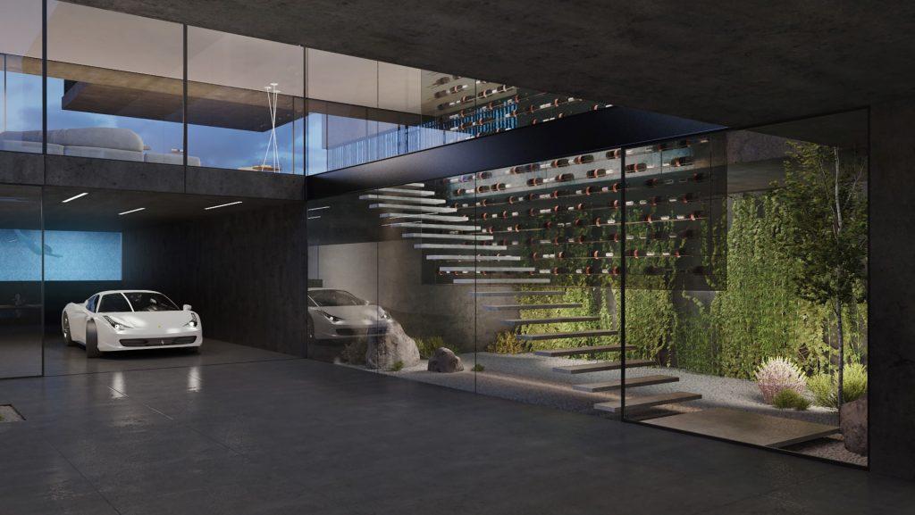 desain rumah semen modern