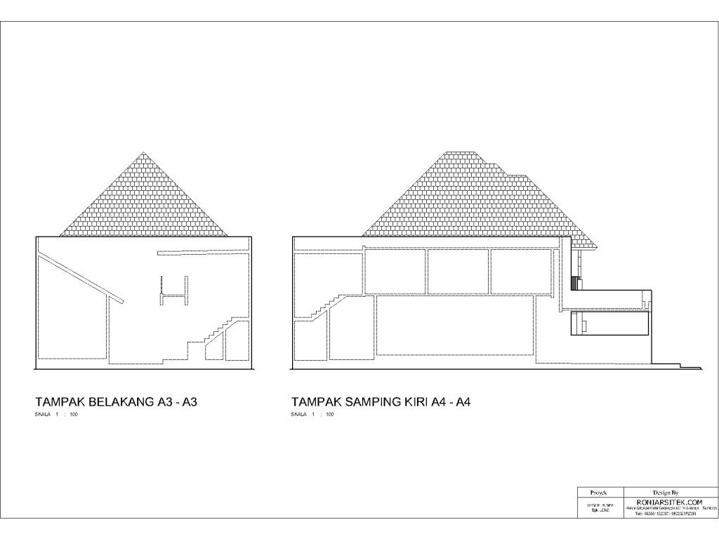 desain rumah tropis 2 lantai