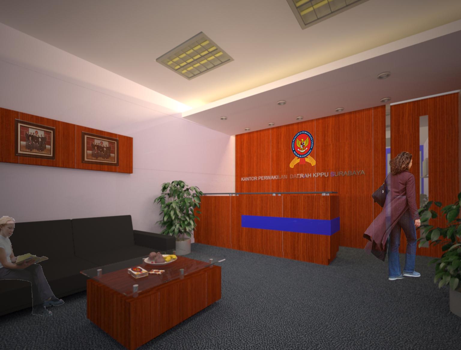 desain interior loby kantor
