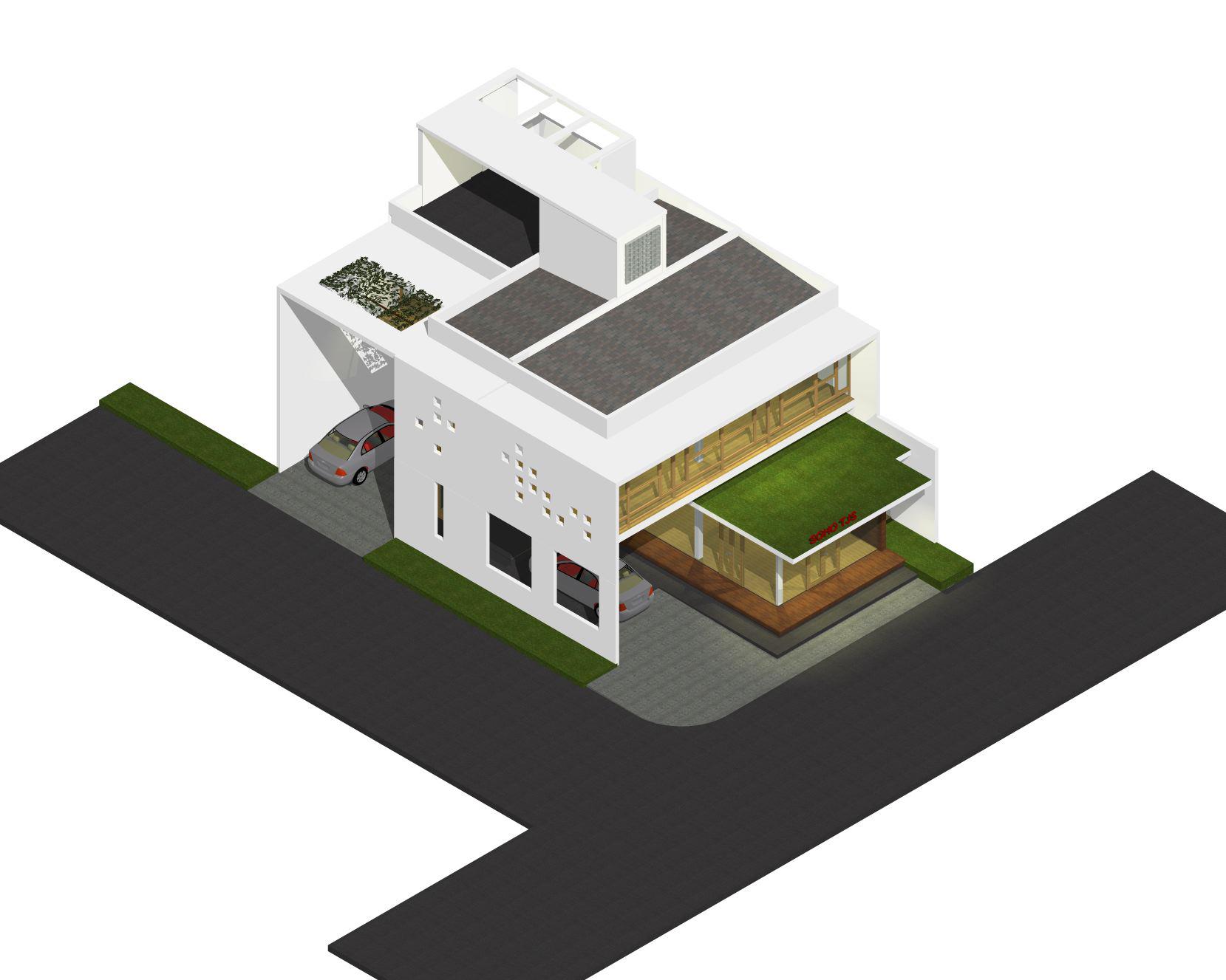 desain rumah kantor lantai 2