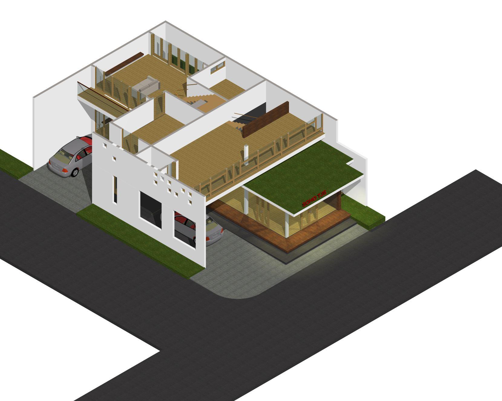 arsitek rumah kantor lantai 2