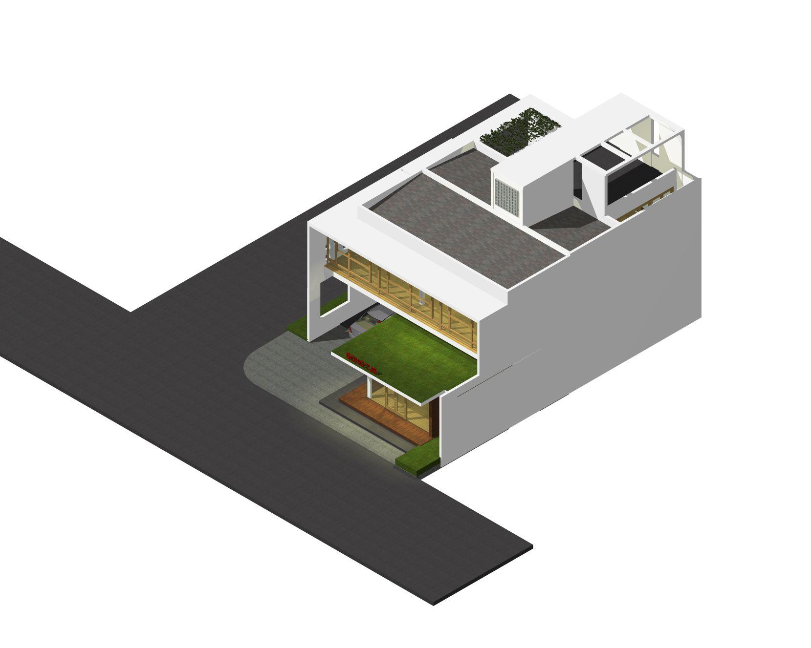 desain rumah dan kantor lantai 2