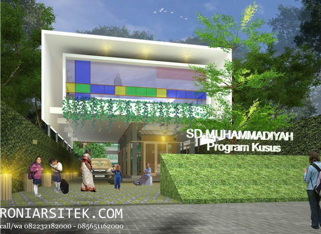 jasa arsitek Desain gedung sekolah modern