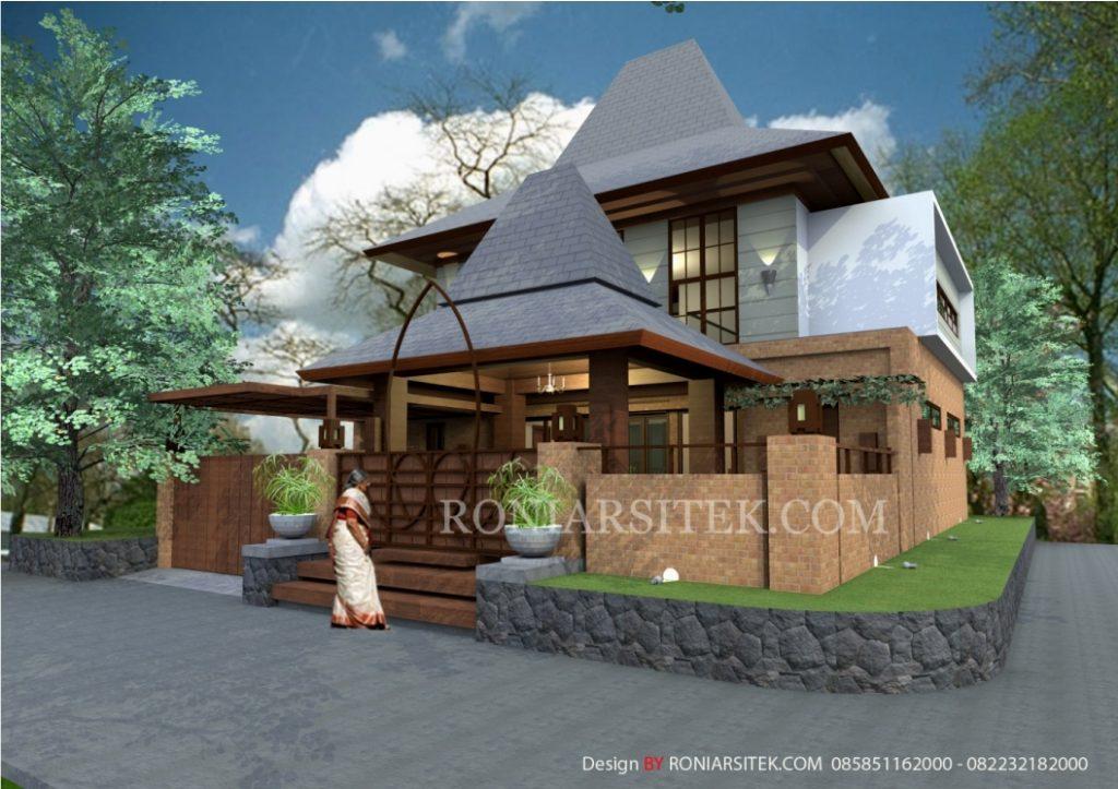 Desain Rumah Joglo Modern Bapak Joko Jakarta