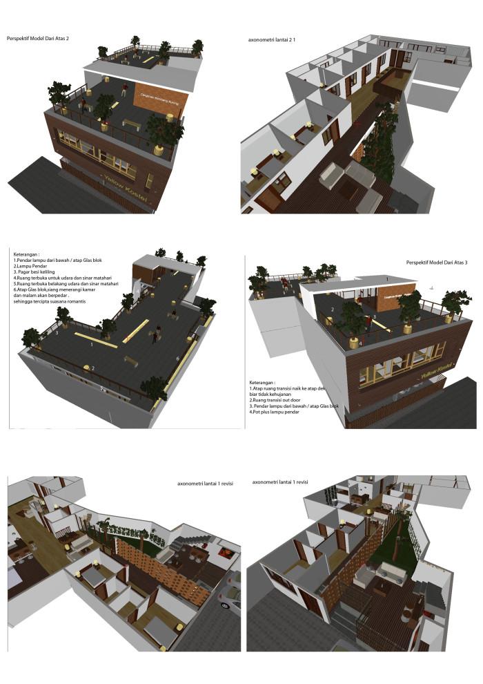 desain rumah kos modern