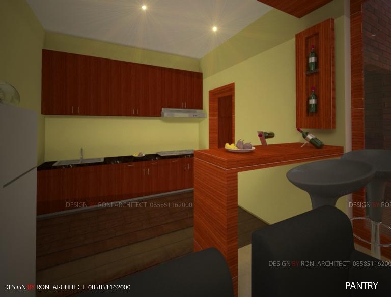 desain pantry model minimalis natural