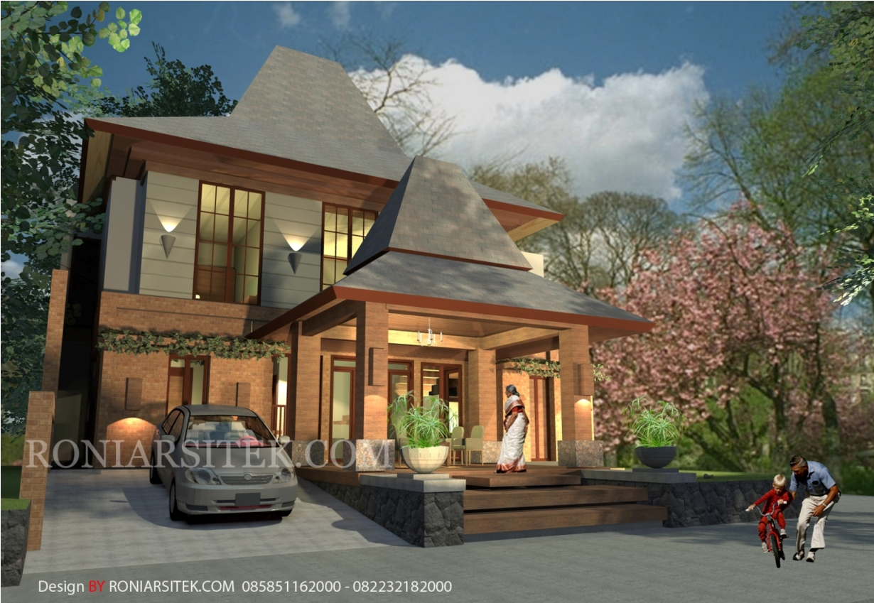 Jasa Desain Rumah Joglo Modern Bapak Joko Jakarta Roni Arsitek