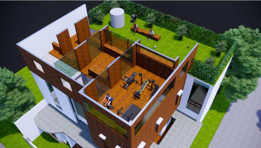 desain roof top modern