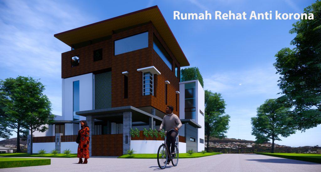 rumah modern roof top