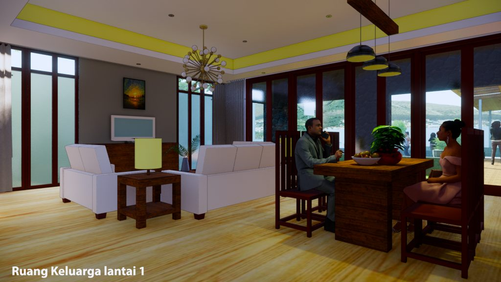 ruang keluarga lantai 1